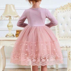Other - 💗New! Blush Pink Knit Lace Vintage Princess Dress